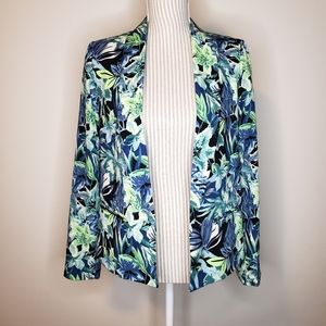 Forever 21 Tropical Floral Unstructured Blazer